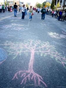 Arts walk, Olympia, Washington, Seraphim Fire Photography, chalk, drawing, May