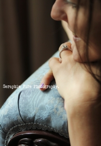 Boudoir session, Love, ring detail, engaged